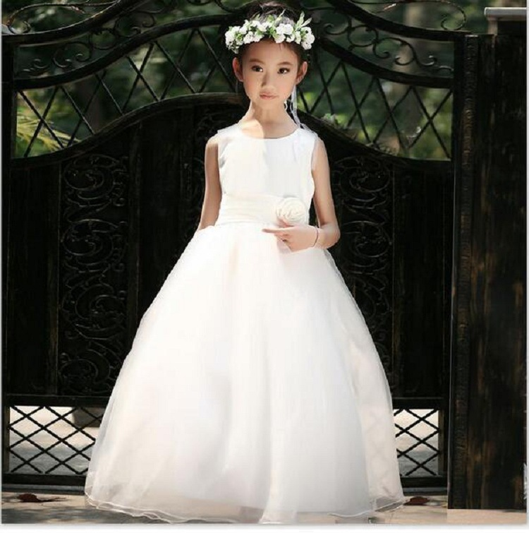 2017 Summer christening gown for girl childrens clothing childrens princess dress costume kids girls wedding evening dress<br><br>Aliexpress