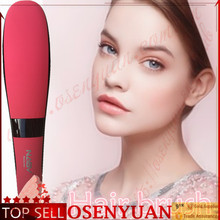 Beauty star! in stock china famous brand hair straightener hair straightening brush with RED PINK BLACK color(nasv-300)(China)