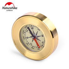 Brand Naturehike Portable Compass American Military Multifunction Damping oil copper shell noctilucence climbing car compass(China)
