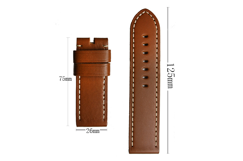 26mm Parnis High Quality Brown Genuine Leather Watch band Mens Strap Watchband for Mechanical Wristwatches<br><br>Aliexpress