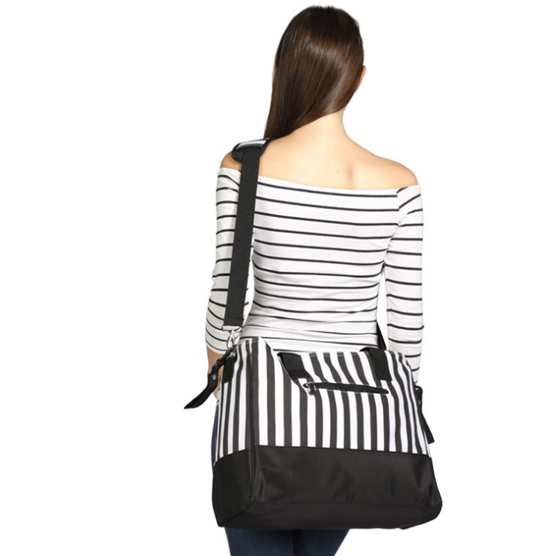 Diaper Bag Mummy Backpack Nappy Bag Large Capacity Stroller Bags Black And White Stripes Nursing Bag For Baby Care (6)