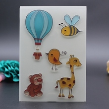10x15CM clear stamp fire balloon baby bird giraffe bear bird for DIY Scrapbook Card embossing stencil template transparent stamp