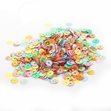 4/5/6mm 20g/bag Round Flat Sequin for Clothing Accssory DIY Craft Scrapbooking Wedding Art Home Decoration Jewelry Making