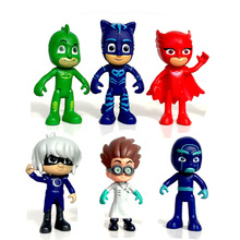 PJ Masks toy Characters Catboy Owlette Gekko Romeo Night Ninja Luna PjMasks Action Figure 7.5-9.5cm Model Set Kids Gift