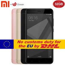 "Original Xiaomi Redmi 4X 3GB 32GB Mobile Phone Redmi 4 X Pro Smartphone Snapdragon S435 5.0"" Fingerprint Global ROM"