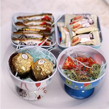 1pc Romantic Beautiful Flower Storage Box,Small Metal Tin Boxes,Bow-knot Tea Box for Sugar Coffee Coin and Small Things Storage(China)