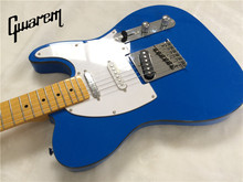 Electric guitar/Gwarem luck star tele guitar/blue color/3 pickups/guitar in china(China)