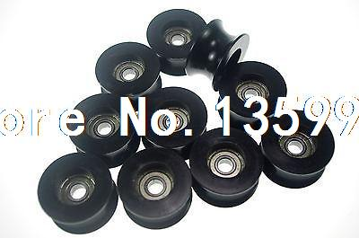 (10)8*40*20.7mm 0840UU 8mm Groove Guide Pulley Sealed Rail BallBearing 8*40*20.7<br>