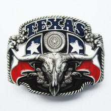 Distribute Belt Buckle New Black Texas Longhorn State Flags Belt Buckle Free Shipping 6pcs Per Lot Mix Style is Ok(China)