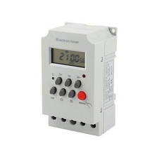 OKtimer brand KG316T-II AC 220V 25A Din Rail LCD Digital Programmable Electronic Timer Switch Digital Timer Controller KG316T(China)