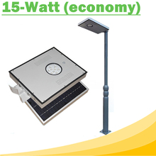 15W Integrated Solar LED Street Light Outdoor IP65 Solar Lamps with Infrared Motion Sensor and Light Sensor for Street Economy