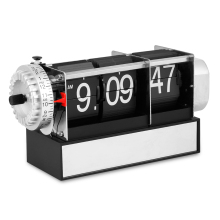 Table Alarm Flip Clock Antique Retro Style Digital Dynamic With Alarm Clock Gift Desk Table Gear Operated Auto Flip Clock