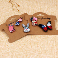 1set Japanese Kimono Funny Kawaii Black Cat Pink Mouse Dog Koala Pins And Brooches For Women Girls Kids Badge Brooch Pin Jewelry(China)