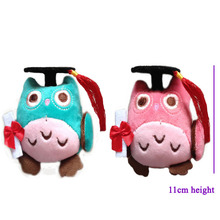 20 pcs/lot,blue color,  graduation wisdom owl plush toys cotton lovely graduation gifts ,stuffed owl free shipping!