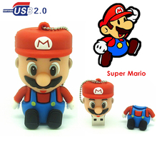 Cartoon Super Mario usb flash drive real capacity pen drive flashdrive 32GB 16GB 8GB 4GB pendrive flash memory stick drive