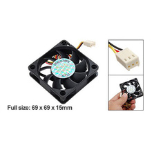 ETCS-Hot Sale 33g Black 70mm PC Chassis Computer Case 3 Pin Fan Cooling Cooler