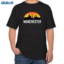Kawaii Men's T-Shirts Designs The United Kingdom Mancheste Is Red Ringer Men's T Shirt Cotton Simple Tee Shirt Top Online Sales