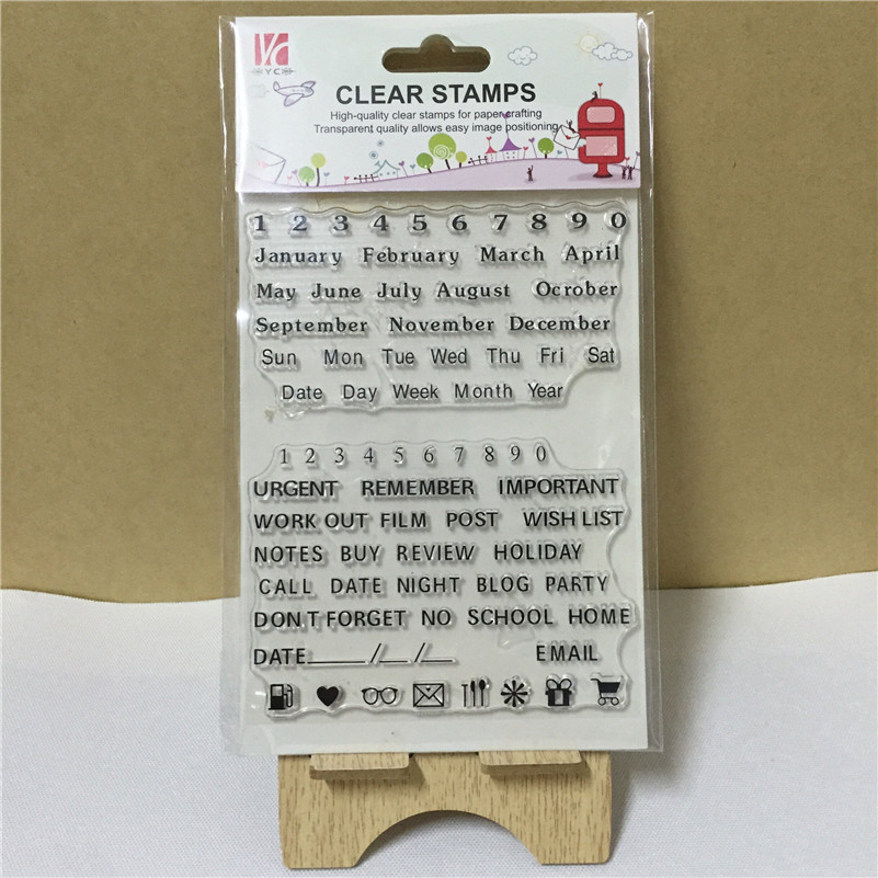 Scrapbooking DIY photo cards greeting letter signs silicon stamps transparent stamp for Christmas gift OO-050<br><br>Aliexpress