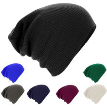 Hirigin Fashion Beanies Men's Women's Knit Baggy Beanie Oversize Fashion Winter Hat Ski Slouchy Chic Cap Whole Sale(China)