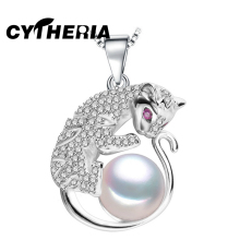 CYTHERIA Pendants natural Pearl necklace , 2017 new jewelry charm leopard necklace women accessories AliExpress punk necklace