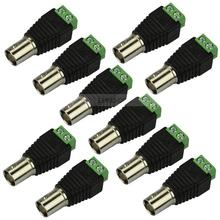 10pcs Coax CAT5 To Camera CCTV BNC Female Jack Video Balun Connector Adapter