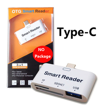 USB 3.1 Type C SD/TF/Micro SD/SDHC Card Smart OTG Reader for HUAWEI P9 Plus HTC 10 Nokia N1 LG G5 Microsoft Lumia 950 950XL