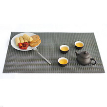 Placemat PVC Dining Table Mat Disc Pads Bowl Cup Pad Coasters Waterproof Table Cloth Pad Slip-resistant Pad 45*30cm QB878339