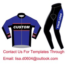 Windproof Custom Cycling Jersey Long Sleeve Winter Fleece And Pants, Customize Bicycle Wear High Quality Min Order 1