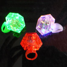 New Party Night Accessories Large Flashing Diamond Ring Novelty Bride Gift Holiday DIY Decorations