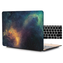 Galaxy Texture Matte Frosted Shell Case for Macbook Air Pro Retina 11 12 13 15 inch Laptop Bag Cases for Mac book Air 13 Case