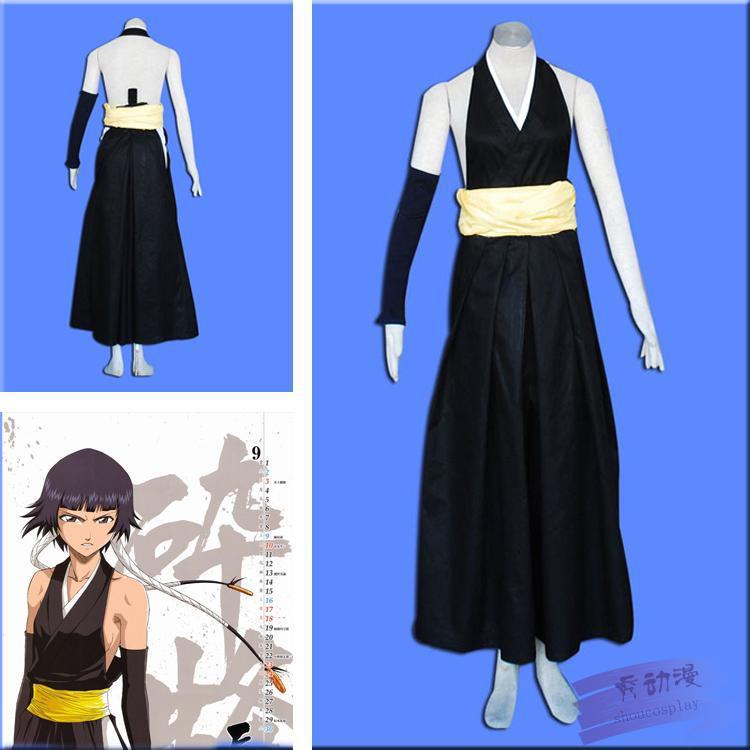 NEW Bleach Soi Fong Cosplay Party Costume Free Shipping