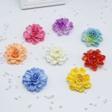 new 10 pcs/lot 7cm Fake flower simulation flower chrysanthemum flower ball gift diy wedding shoes hat corsage flower wall deco(China)