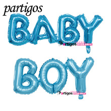 2pcs/lot 100cm pink blue Link Boy Girl Letter Ligatures Connected Baby Foil Balloons Wedding Birthday Party Decor Helium Globos