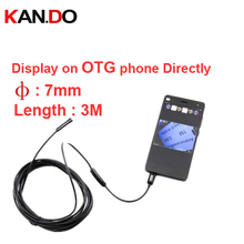 1 meter 7mm diameter endoscope camera cctv camera OTG function video recording endoscope CAM cctv accessory for cctv
