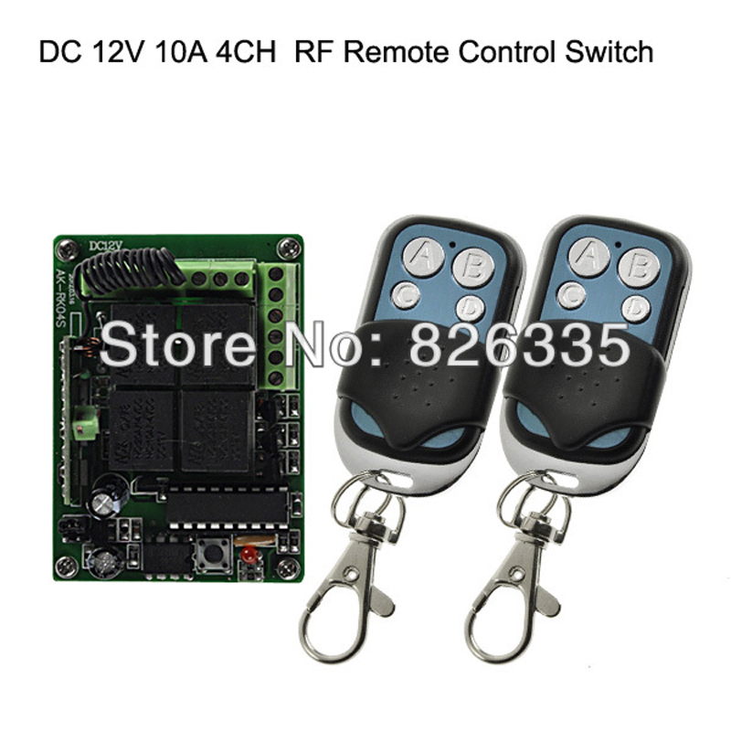 2sets DC 12V 10A 4CH  Wireless Remote Control Switch Receiver with 2pcs 4 Button Transmitters for Smart House<br><br>Aliexpress