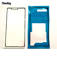 New For Sony Xperia Z3 Compact Front LCD Supporting Frame Adhesive Sticker + Back Glass Glue Waterproof Sticker