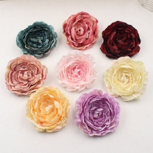 2pcs 9cm Tree Peony Head Artificial Silk Flower For Wedding Decoration DIY Scrapbooking Handmade Craft Accessories Wreath Flower(China)