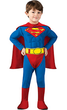 Kids Cospaly Deluxe Muscle Superman Costume Halloween Party Muscle Christmas Superman For Boys Girls Full Body Superman Suit