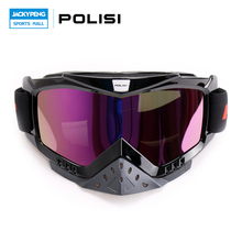 New POLISI Dirt Bike Ski Snowboard Motorcycle Goggles Motocross Off-Road Skiing Airsoft Paintball Glasses Free Shipping(China)