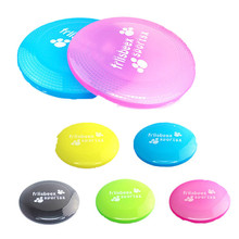 2017 New Large Pet Dog 23cm Flying Discs Eco-friendly Natural PlasticTooth Resistant Saucer Frisbee Dog Training Pet Toy Puppy