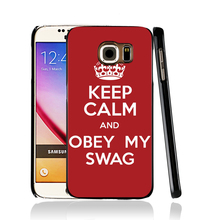 12783 keep calm obey my swag cell phone case cover for Samsung Galaxy edge PLUS S7 S6 S5 S4 S3 MINI