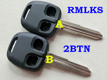 RMLKS 2 Button Remote Key Shell Case Fob MIT11R blade fit for MITSUBISHI Lancer Evo L200 Shogun Pajero Colt(China)