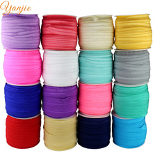 18rolls DHL Free shipping 72colors FOE Fold Over Elastic 50 Yards/roll 1.5cm Foldover Elastic Headband Hair Ties YOU PICK COLOR
