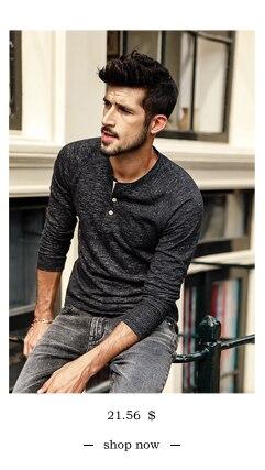 SIMWOOD 2018 Automne À Manches Longues T-shirt Hommes 100% Pur Coton Slim Fit Drôle de Mode De Poche Tops Haute Qualité TC017004 6