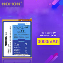 NOHON Phone Battery For Huawei P9 G9 Lite G9 Honor 8 /5c 3000mAh High Real Capacity Replacement Li-Polymer Batteries HB366481ECW