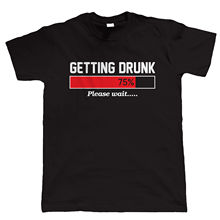Getting Drunk, Mens Funny Beer T Shirt - Christmas Gift for Dad Sleeves Cotton T-Shirt Fashion Game Shirt Tops  Tee