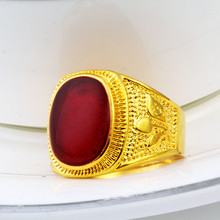Wholesale Male Finger Rings New Fashion Men's Jewelry Yellow Gold Filled Ring For Man Size 7-12