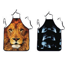 Animal Skull Printed Apron Polyester Cooking Adjustable Unisex Sexy Apron Fun Party Sleeveless Apron