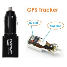 Mini Portable Car GPS locator tracker with SIM Slot SD Slot White Black ME3L