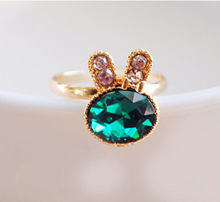 Rabbit Rings - NEW FASHION HOT SALE WHOLESALE Opening Adjustable Finger Snow Bunny Rabbit Animal Ring